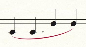 【Finale】変形図形ツール(クレッシェンド、スラーなど)の使い方
